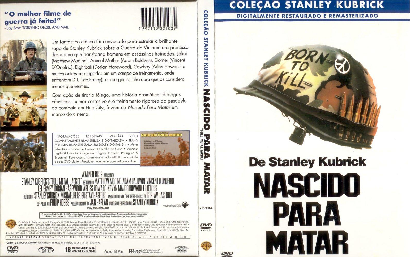 Capa Dvd Nascido Para Matar Nascido Para Matar 1987