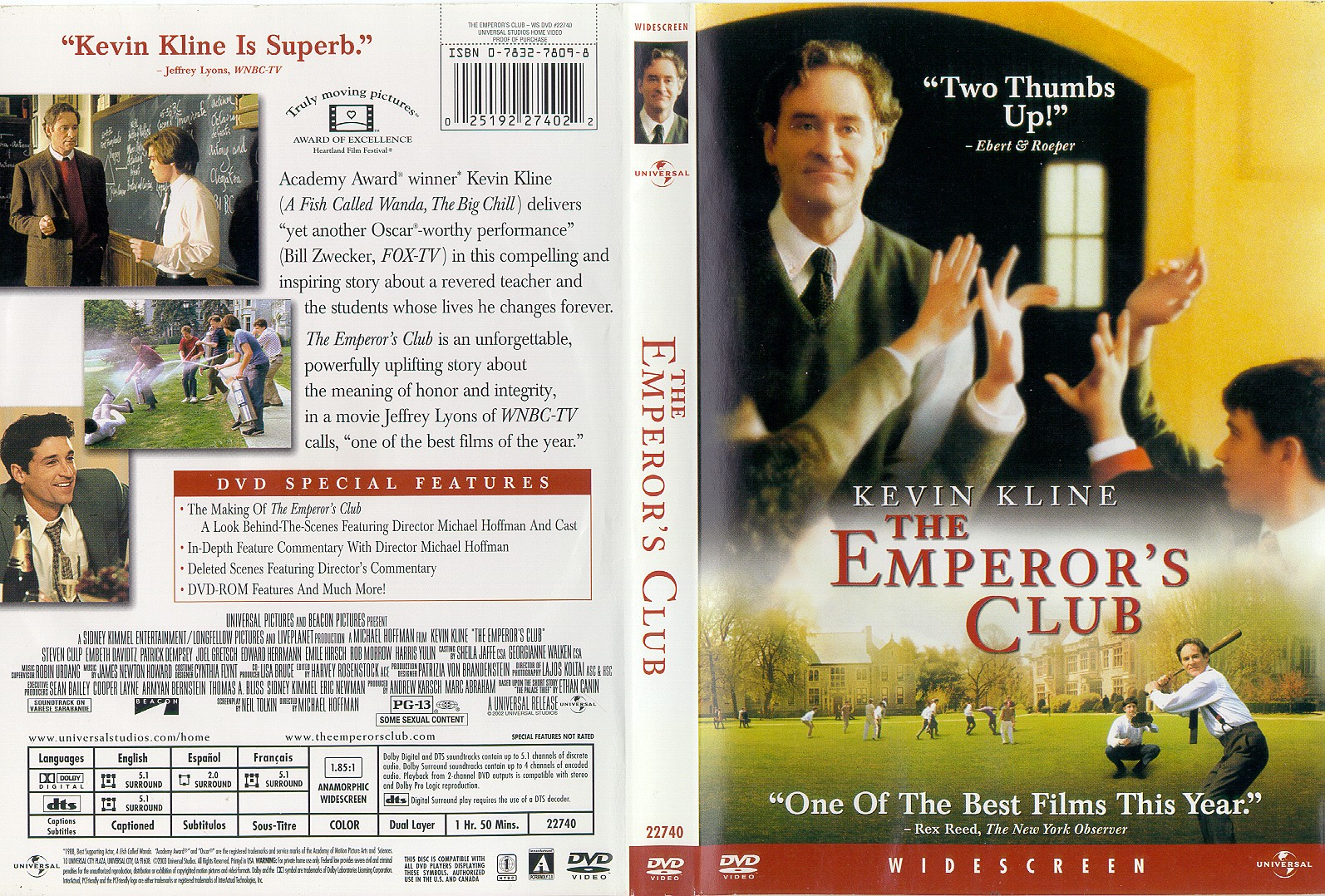 emperiors club A dedicated teacher learns some important lessons about himself years after he  retired from the classroom in this drama william hundert.