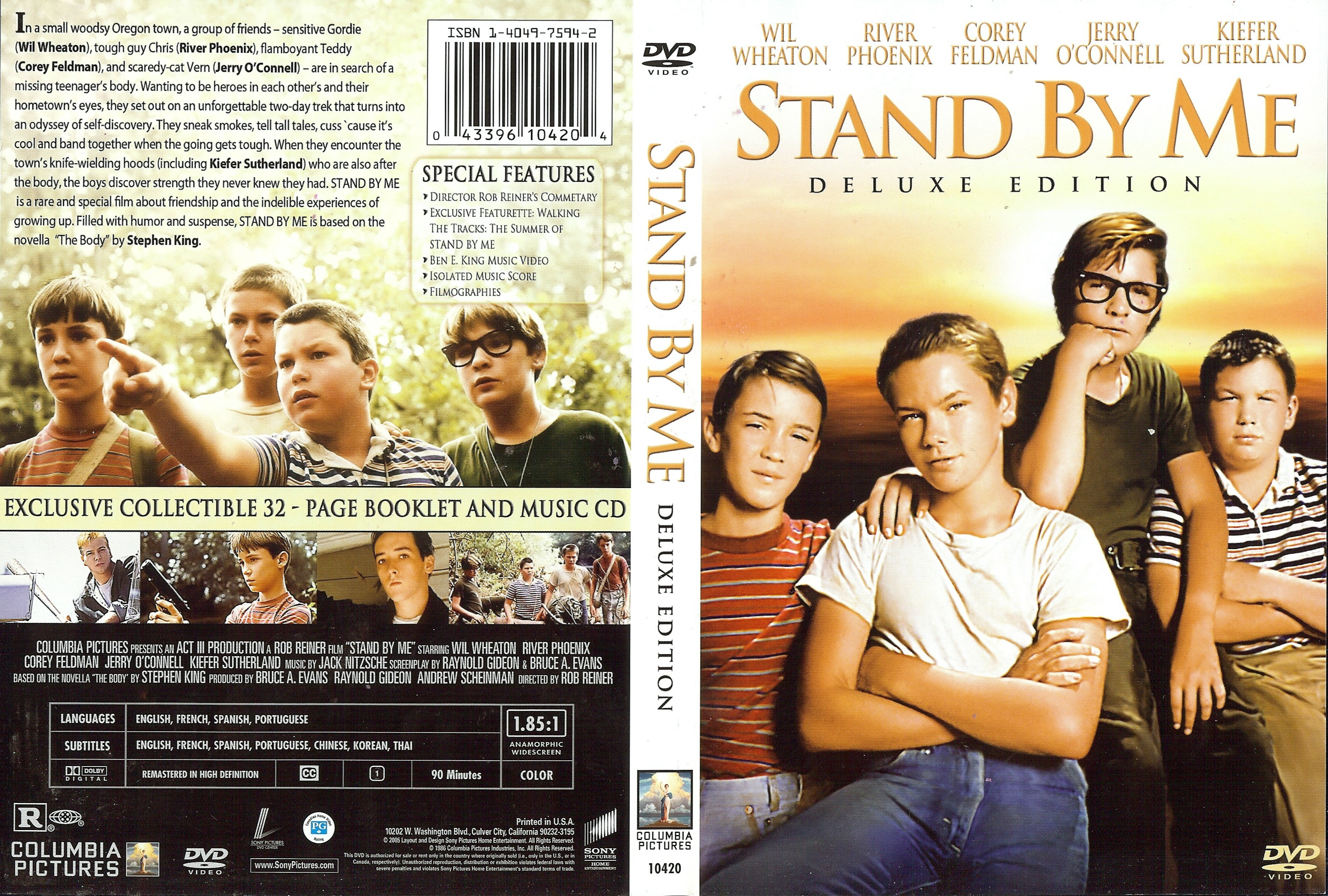 Gordie And Chris Stand By Me Deluxe Edition R Cdcovers Cc